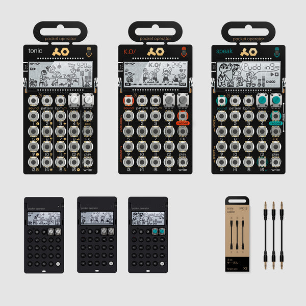 Teenage Engineering: PO-30 Metal Series Super Set contents