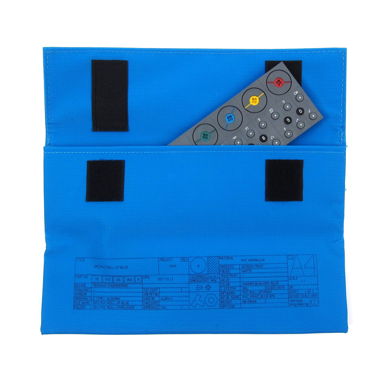Teenage Engineering: OP-Z PVC Roll Up Bag - Blue