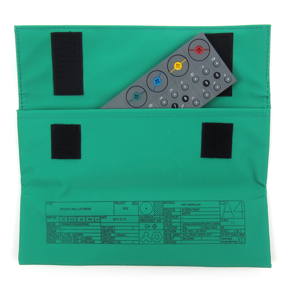 Teenage Engineering: OP-Z PVC Roll Up Bag - Green