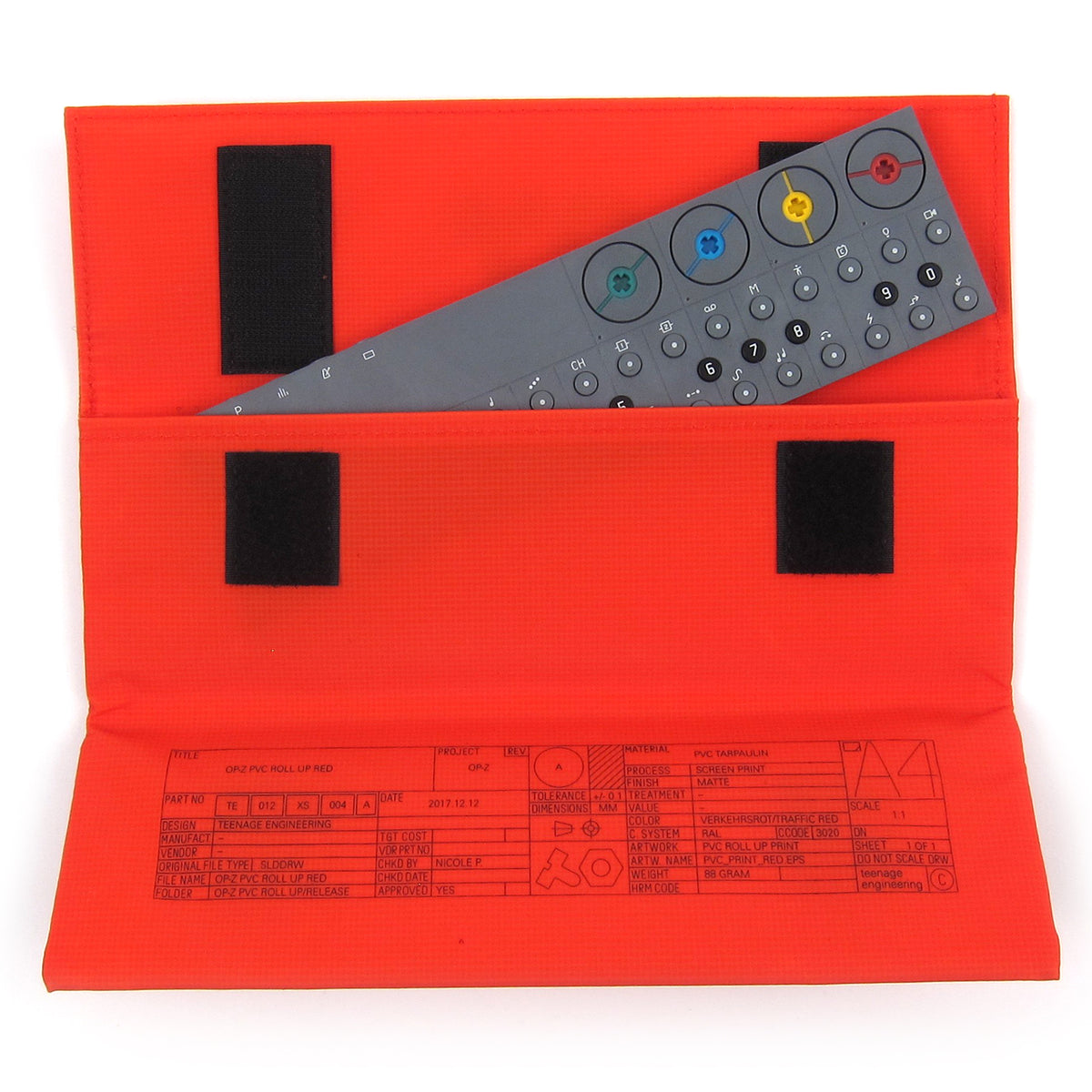 Teenage Engineering: OP-Z PVC Roll Up Bag - Red