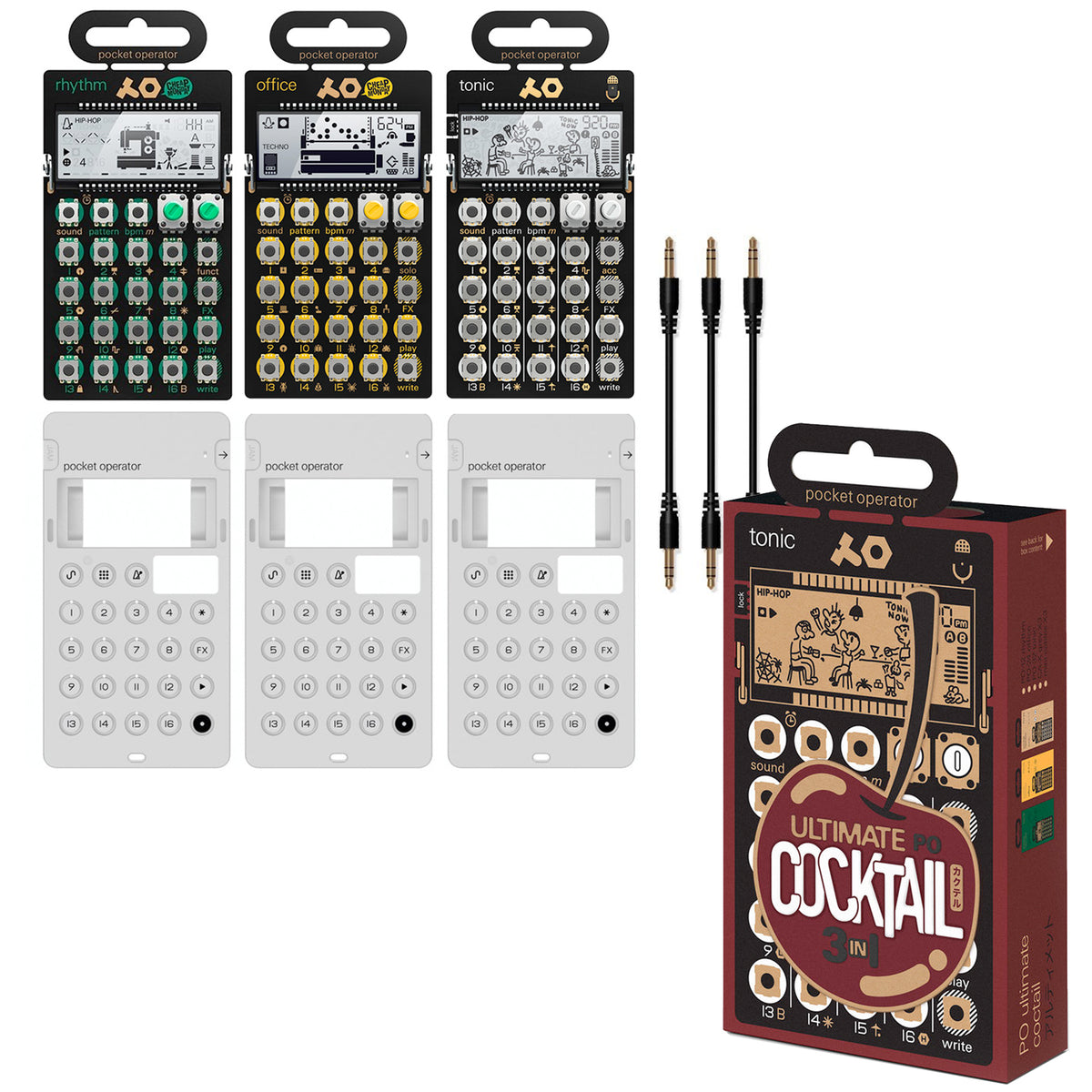 Teenage Engineering: PO Ultimate Cocktail Pocket Operator Bundle (PO-12, PO-24, PO-32)