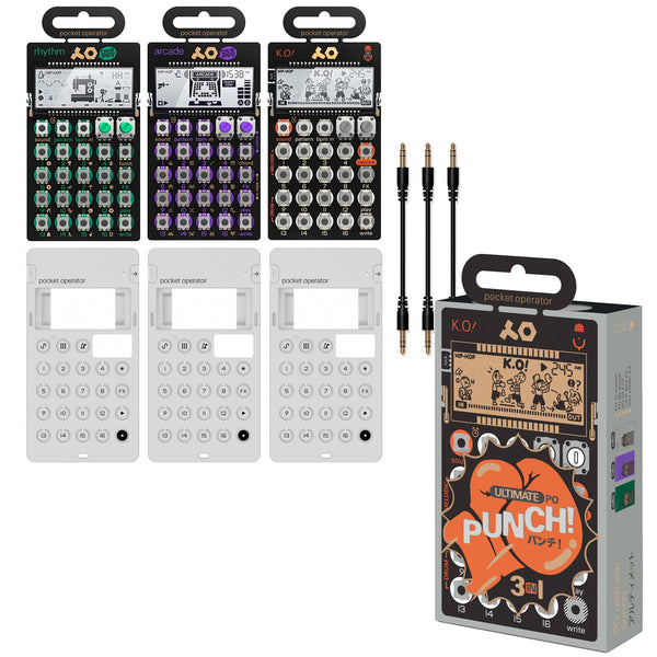 Teenage Engineering: PO Ultimate Punch Pocket Operator Bundle (PO-12, PO-20, PO-33)