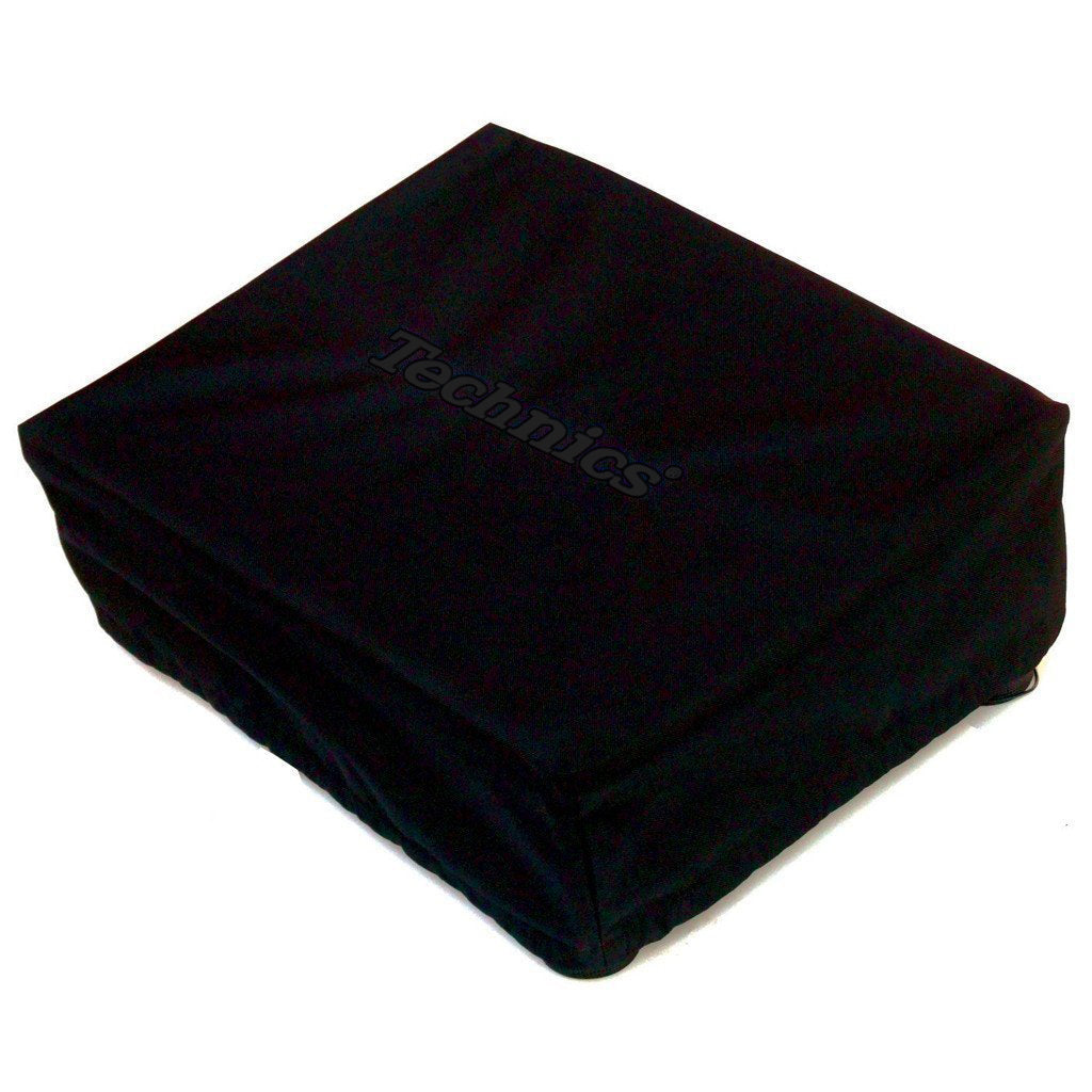 Technics: Embroidered Deck Turntable Cover - Black / Black