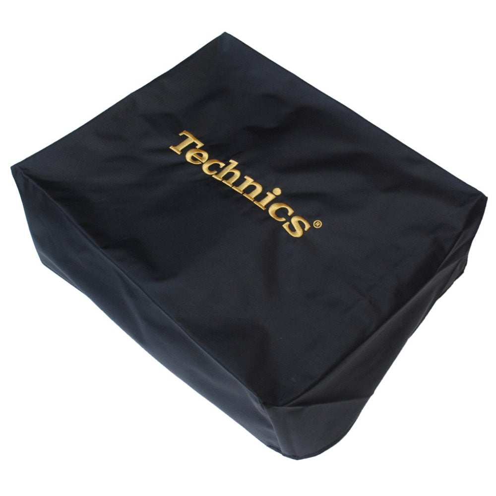 Technics: Embroidered Deck Turntable Cover - Black / Gold