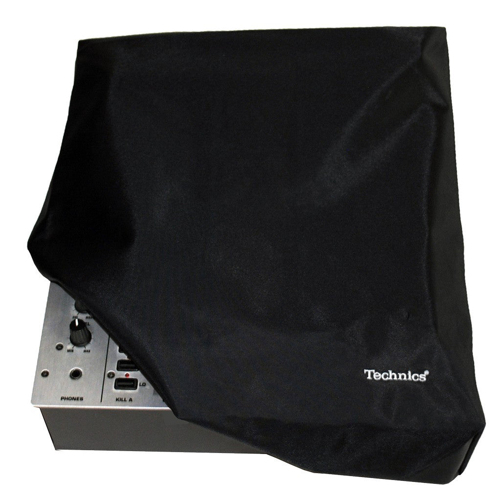 Technics: Mixer Cover - Black / Silver Embroidered