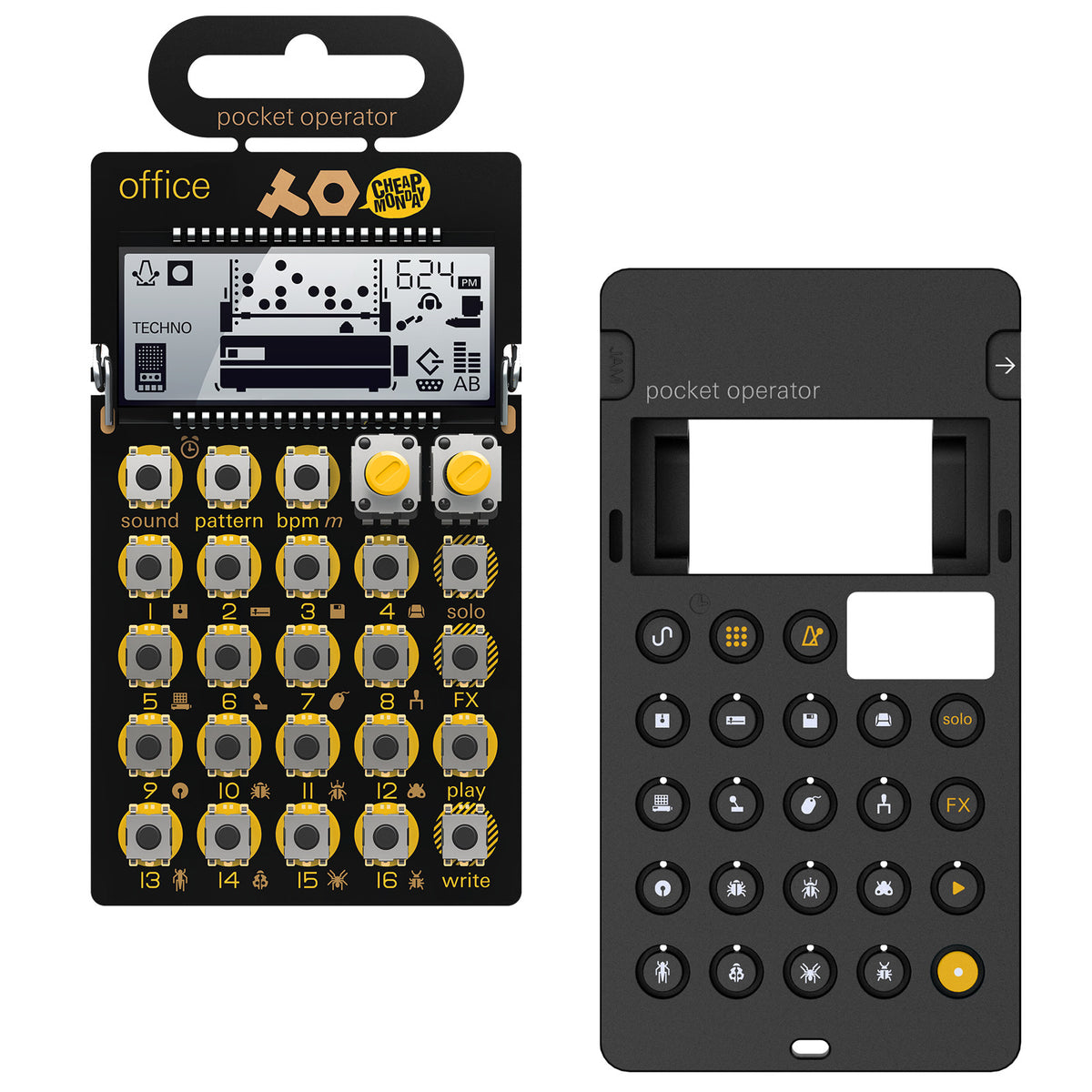 Teenage Engineering: PO-24 Office Pocket Operator + Silicone Case Bundle