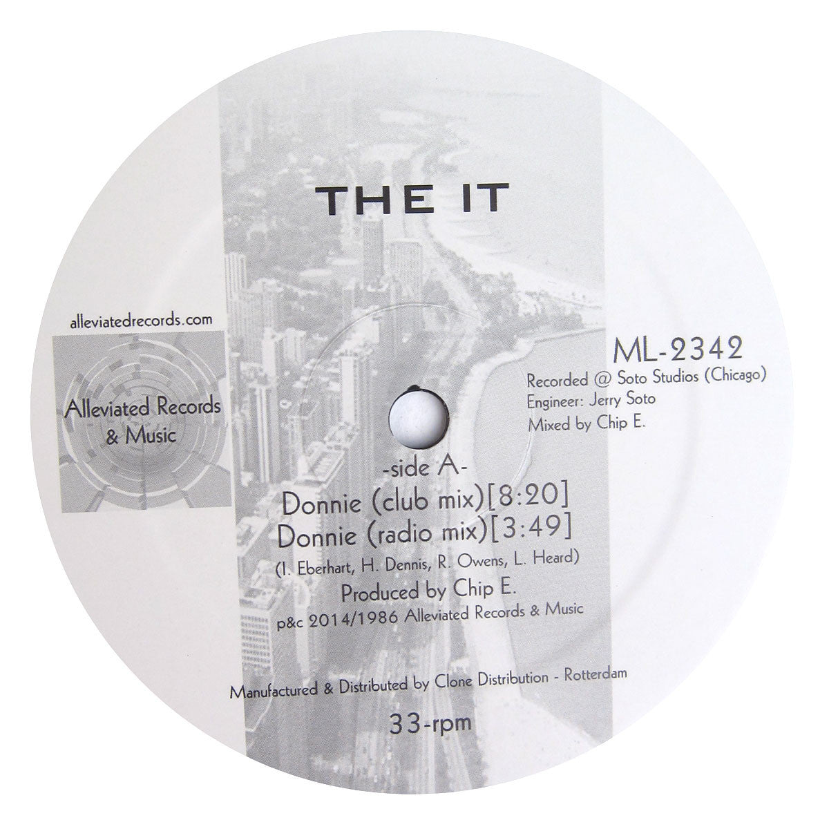 The It: Donnie (Larry Heard) Vinyl 12""