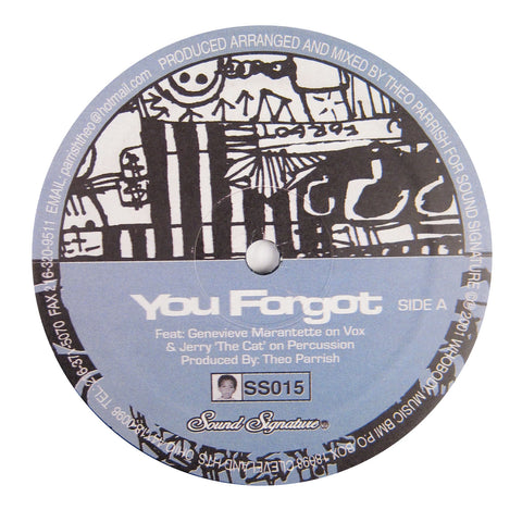 Theo Parrish: You Forgot / Dirt Rhodes Vinyl 12""