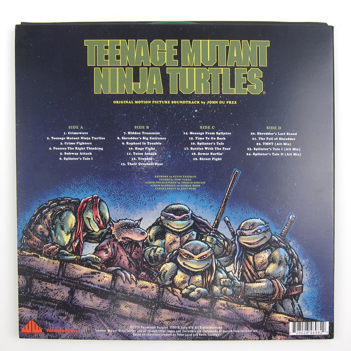 John Du Prez: Teenage Mutant Ninja Turtles Soundtrack (Colored Vinyl) Vinyl 2LP