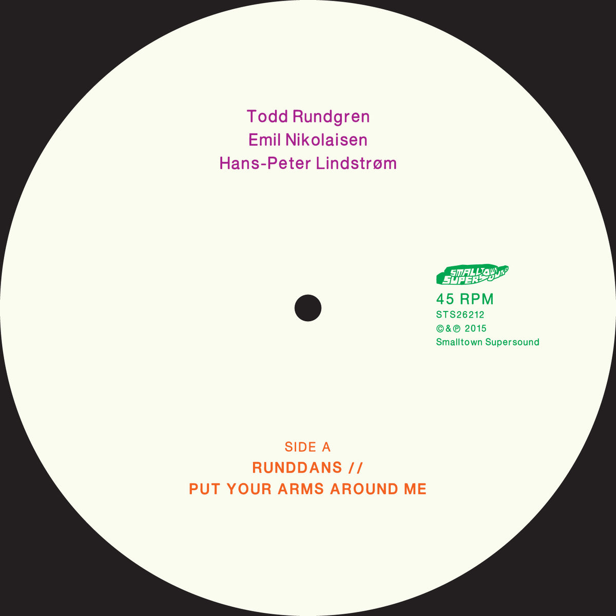 "Todd Rundgren / Emil Nikolaisen / Hans-Peter Lindstrom: Put Your Arms Around Me Vinyl 12"" (Record Store Day)"