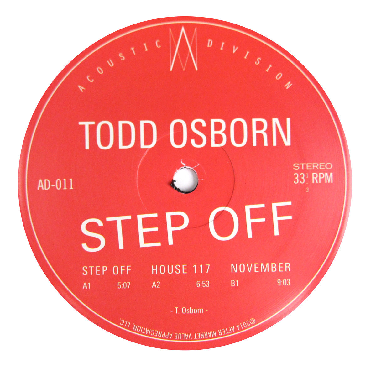 Todd Osborn: Step Off Vinyl 12""