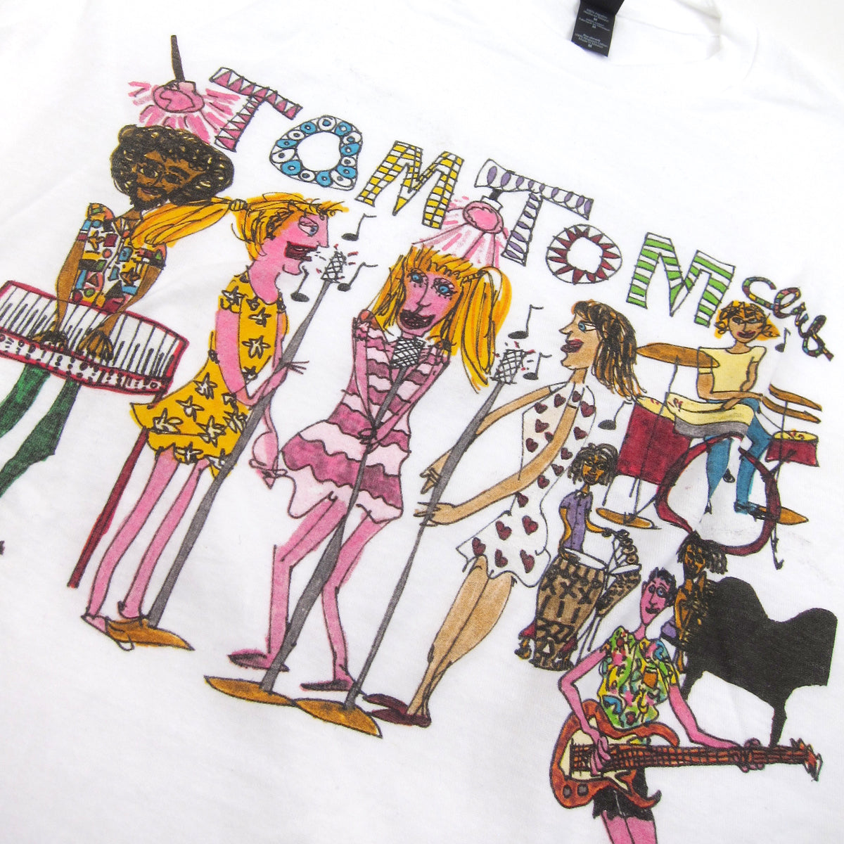 Tom Tom Club: Sketch Shirt - White