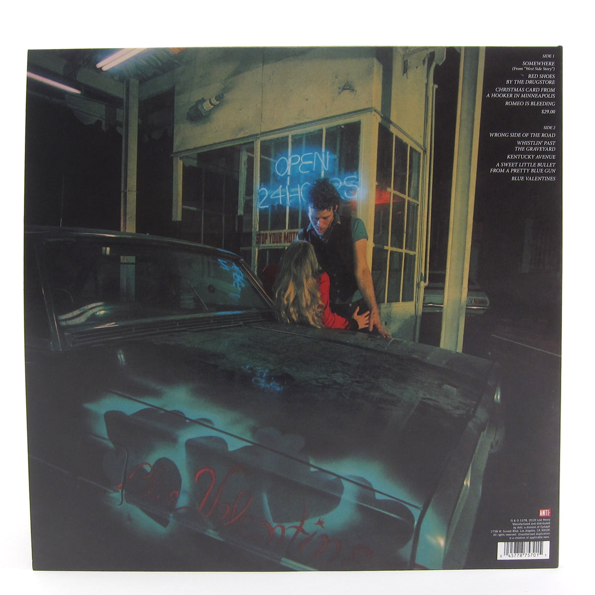 Tom Waits: Blue Valentine (Indie Exclusive Colored Vinyl) Vinyl LP