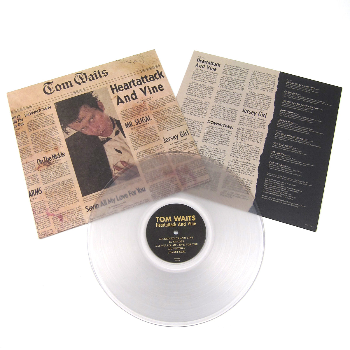 Tom Waits: Heartattack And Vine (180g, Clear Colored Vinyl) Vinyl LP