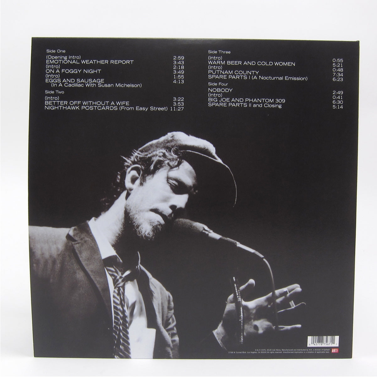 Tom Waits: Nighthawks At The Diner (Indie Exclusive Colored Vinyl) Vinyl 2LP