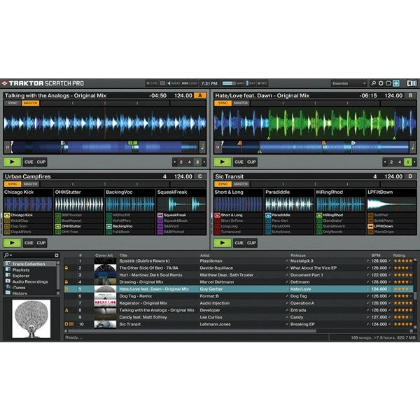 Native Instruments: Traktor Scratch A6 Digital DJ System screen