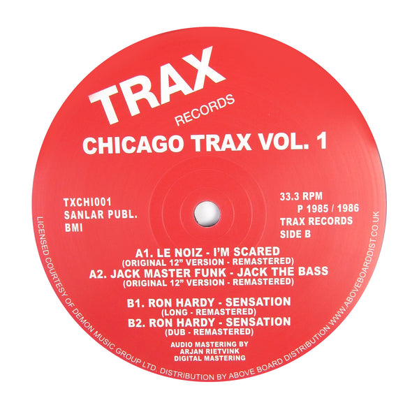 Trax: Chicago Trax Vol.1 (Ron Hardy, Jackmaster Funk) Vinyl 12""