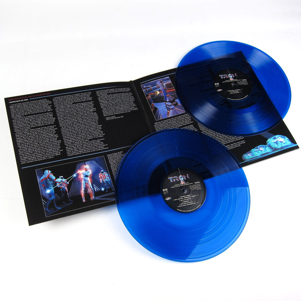 Wendy Carlos: TRON Original Motion Picture Soundtrack (180g Blue Vinyl) Vinyl 2LP detail