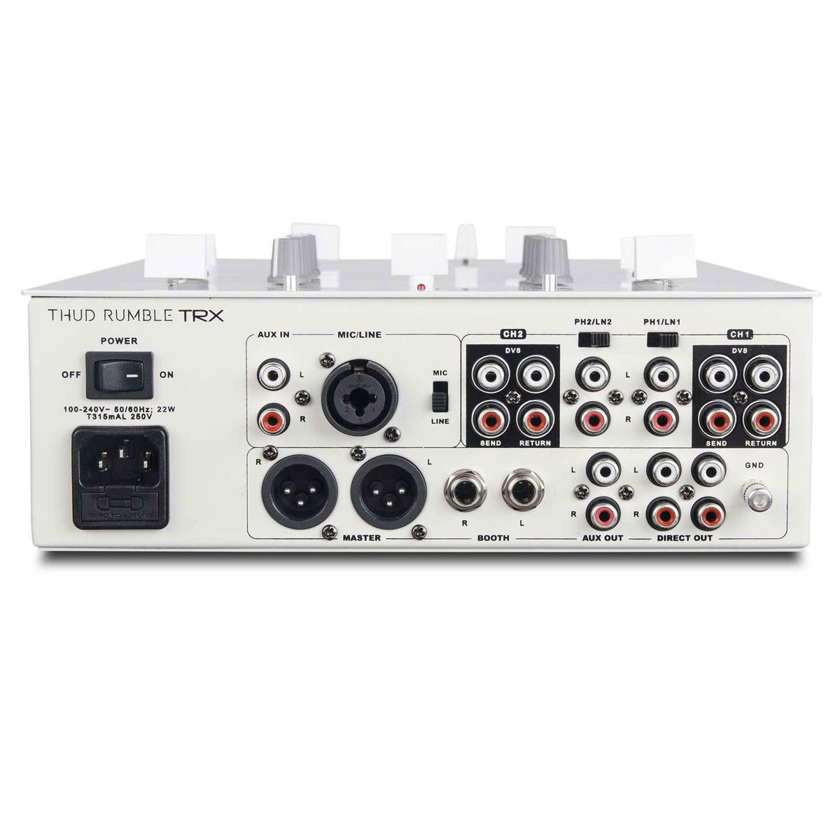 DJ Tech: TRX Thud Rumble Mixer w/ Innofader - White
