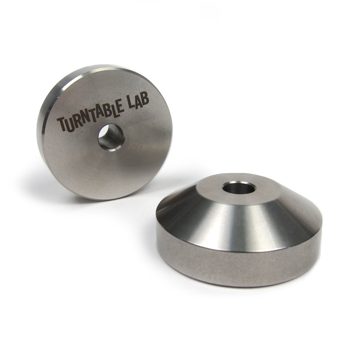 "Turntable Lab: Stainless Steel 45 Record Adaptor for 7"" Vinyl"