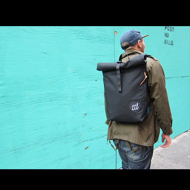 Turntable Lab: Roll-Top Backpack - Bold Condensed - Street 1