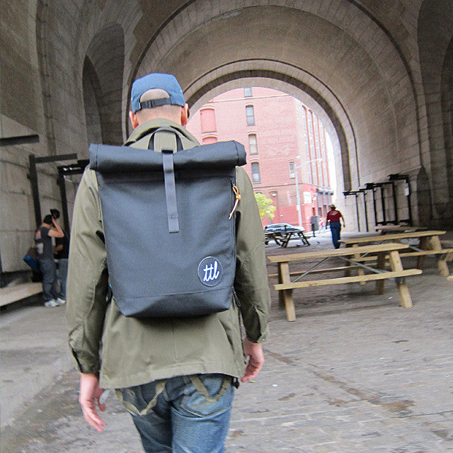 Turntable Lab: Roll-Top Backpack - Bold Condensed - Street 2