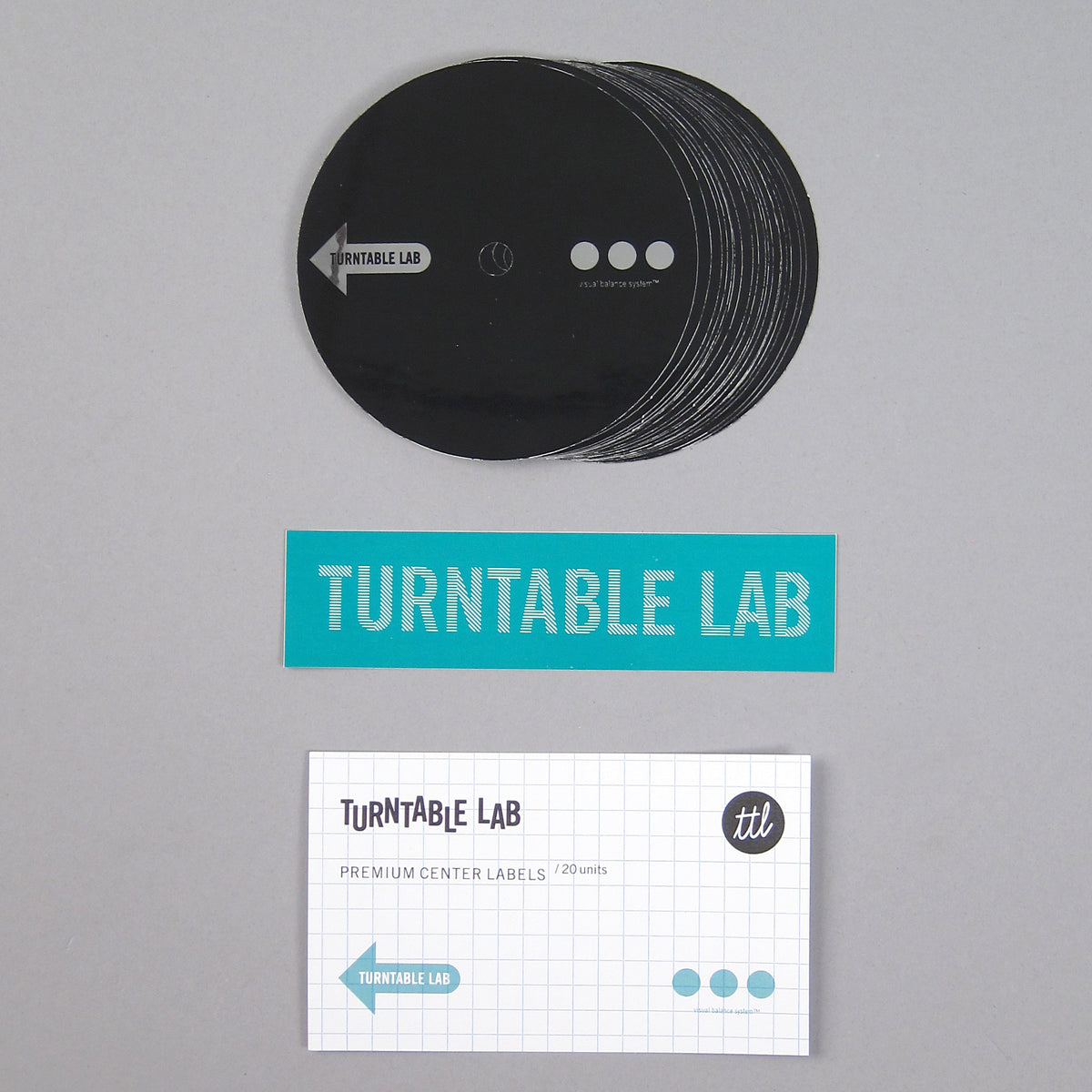 Turntable Lab: Premium Center Labels For DVS Vinyl (20 Pack)
