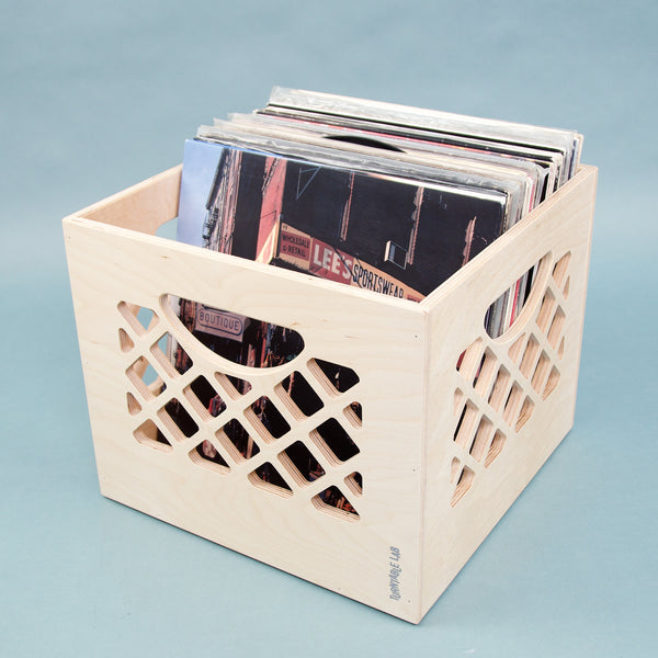 Turntable Lab: Wooden Record Storage Crate