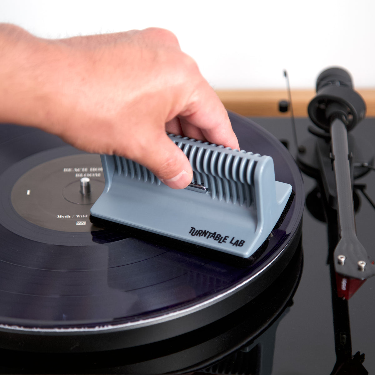 Turntable Lab: Triple Operation Vinyl Record Cleaning Brush