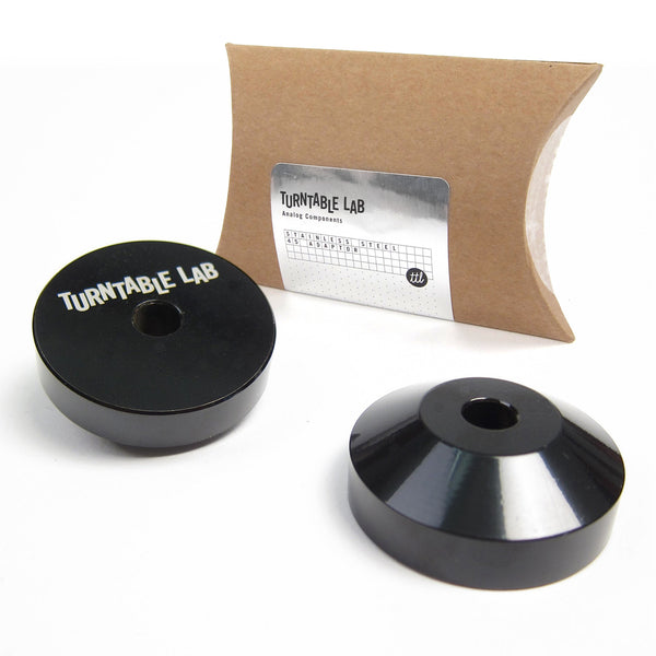 Turntable Lab: Stainless Steel 45 Adaptor - Black