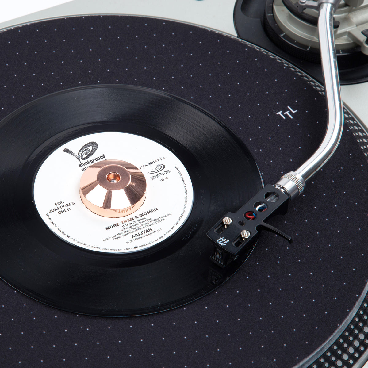 Turntable Lab 45 Record Adaptor Copper Chrome