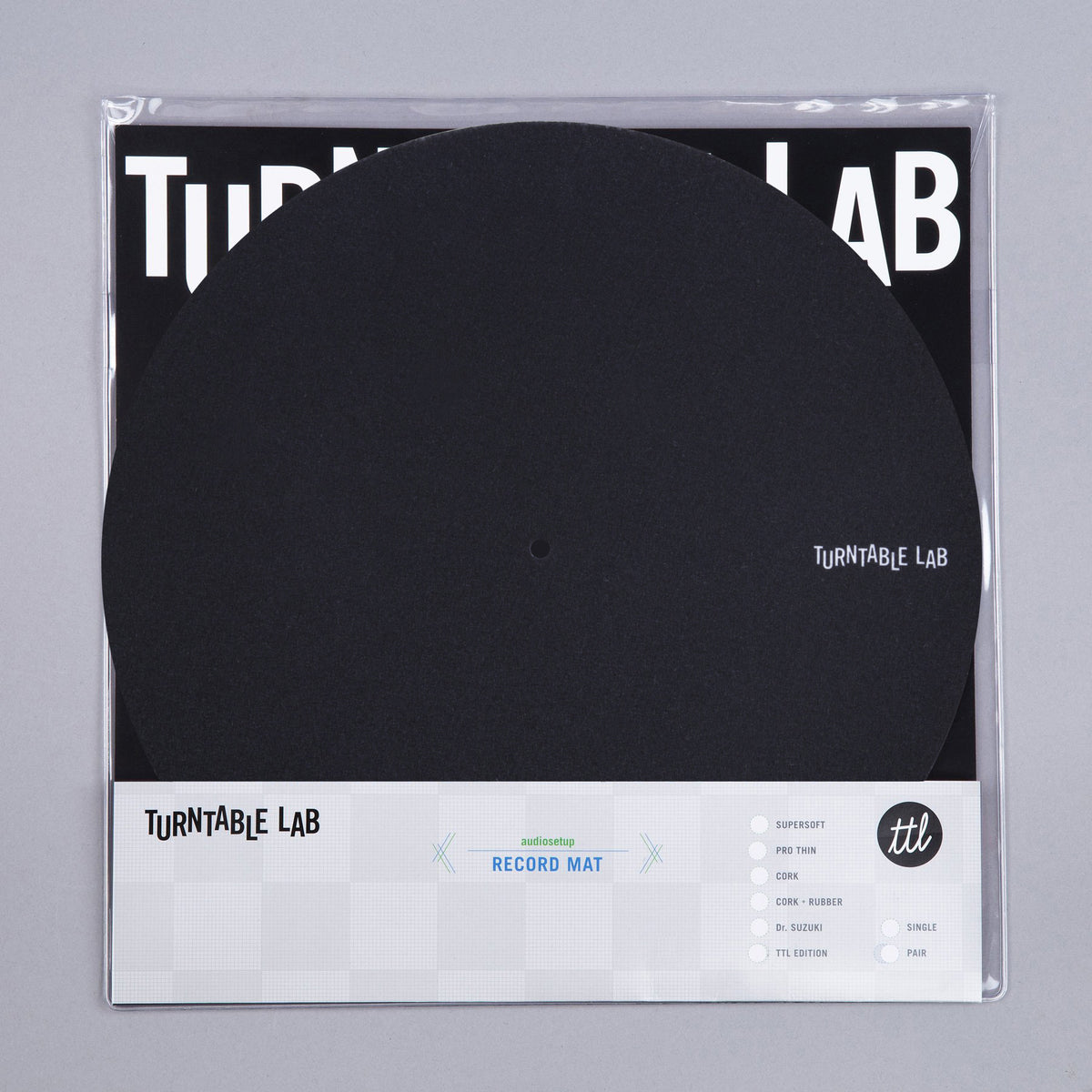 Turntable Lab: Pro Thin Slipmat Record Mats (Technics Style) - Black