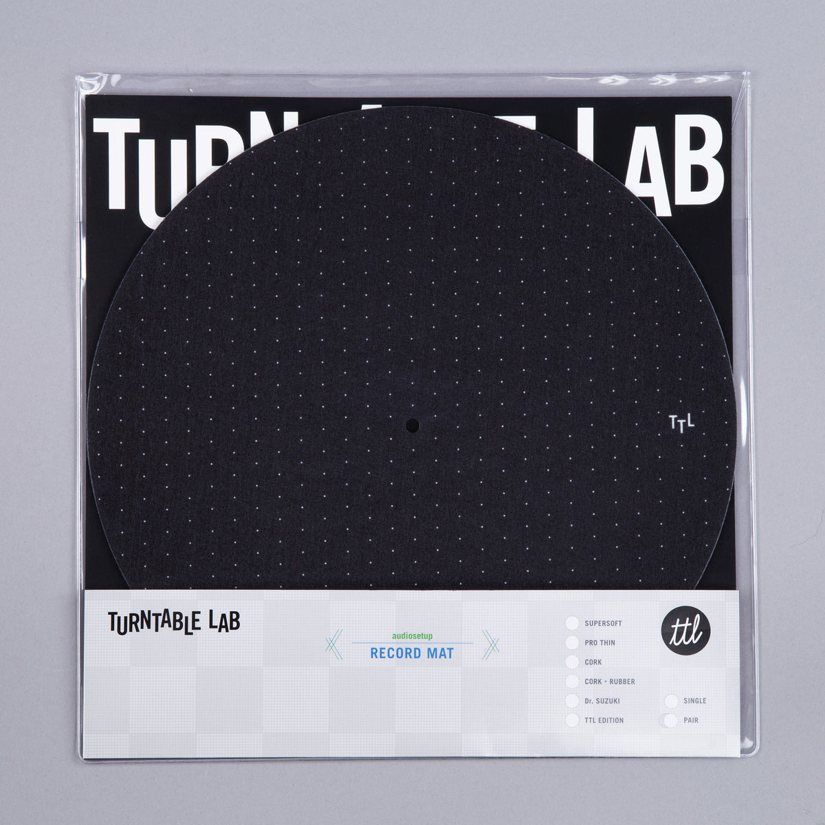 Turntable Lab: Dot Pattern Slipmat Record Mat - Black