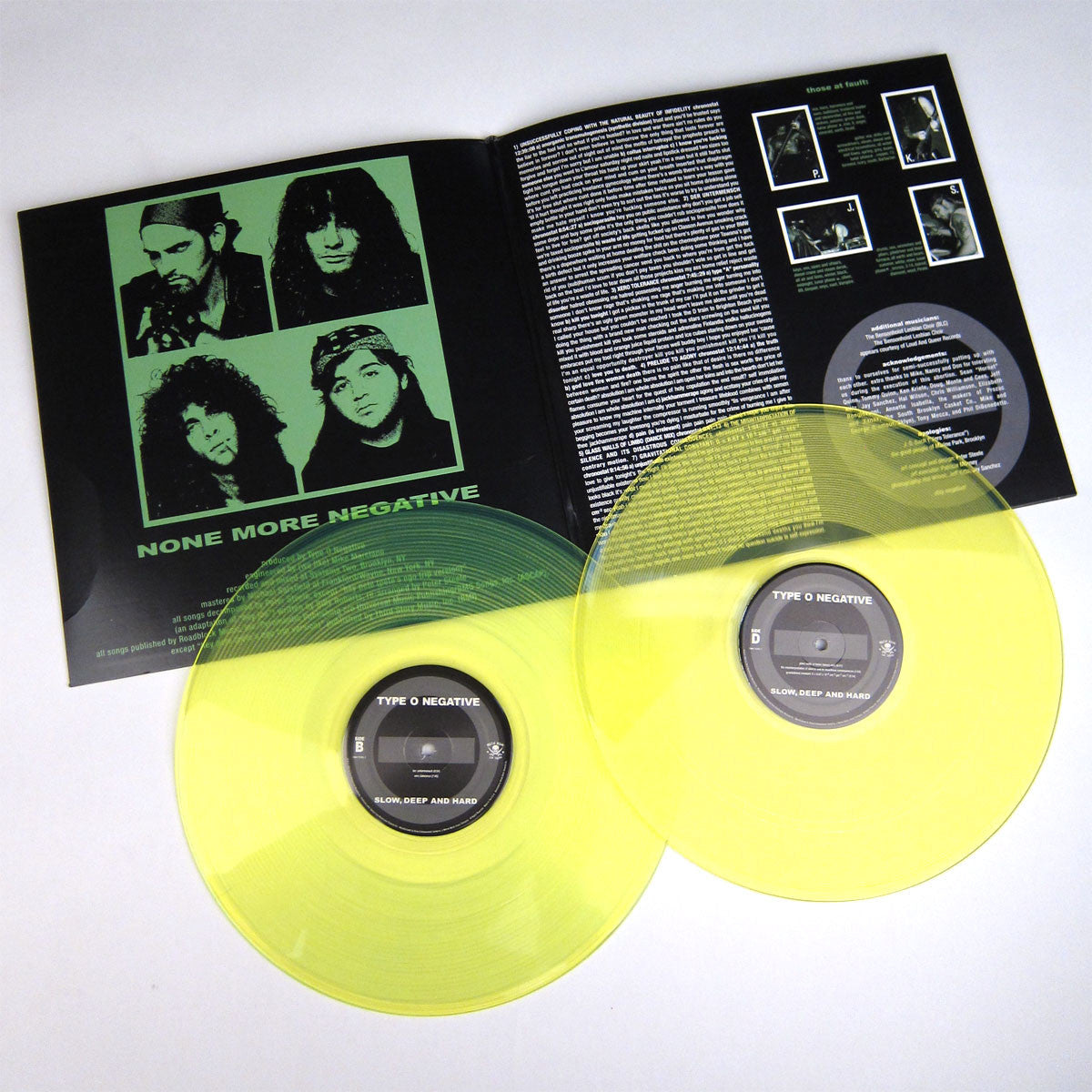 Type O Negative: Slow Deep Hard (180g Green Vinyl) Vinyl 2LP (Record Store Day) detail