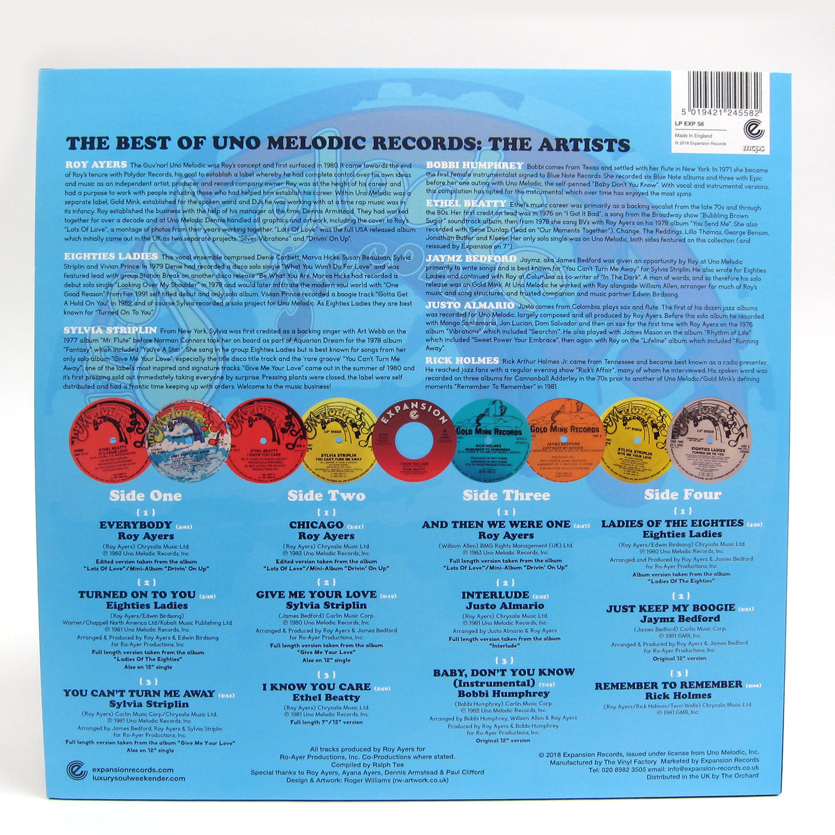 Uno Melodic Records: The Best Of (Roy Ayers, Sylvia Striplin, Bobbi Humphrey) Vinyl 2LP