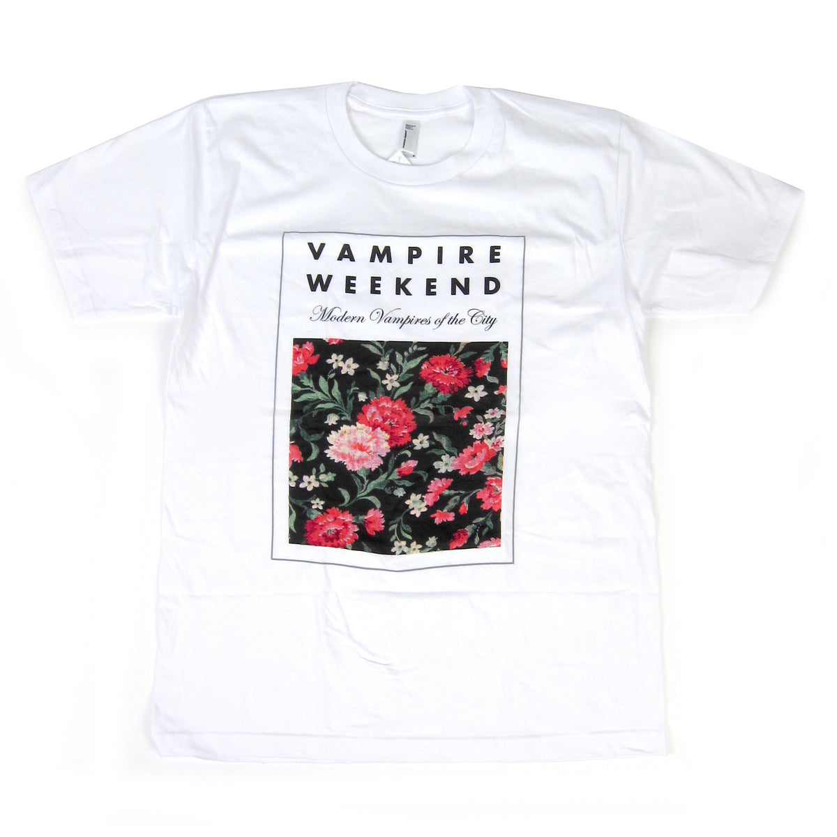 Vampire Weekend: Floral Shirt - White