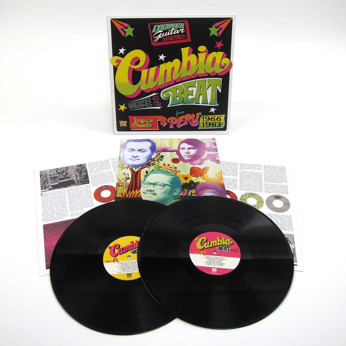 Vampi Soul: Cumbia Beat Vol.2 - Experimental Guitar-Driven Tropical Sounds From Peru 1966/1983 Vinyl 2LP