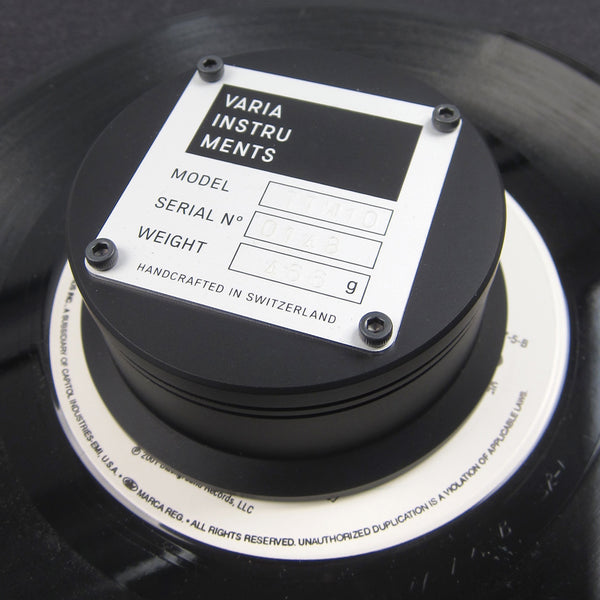 "Varia Instruments: TTW10 Turntable Weight for 12"" + 7"" Records"