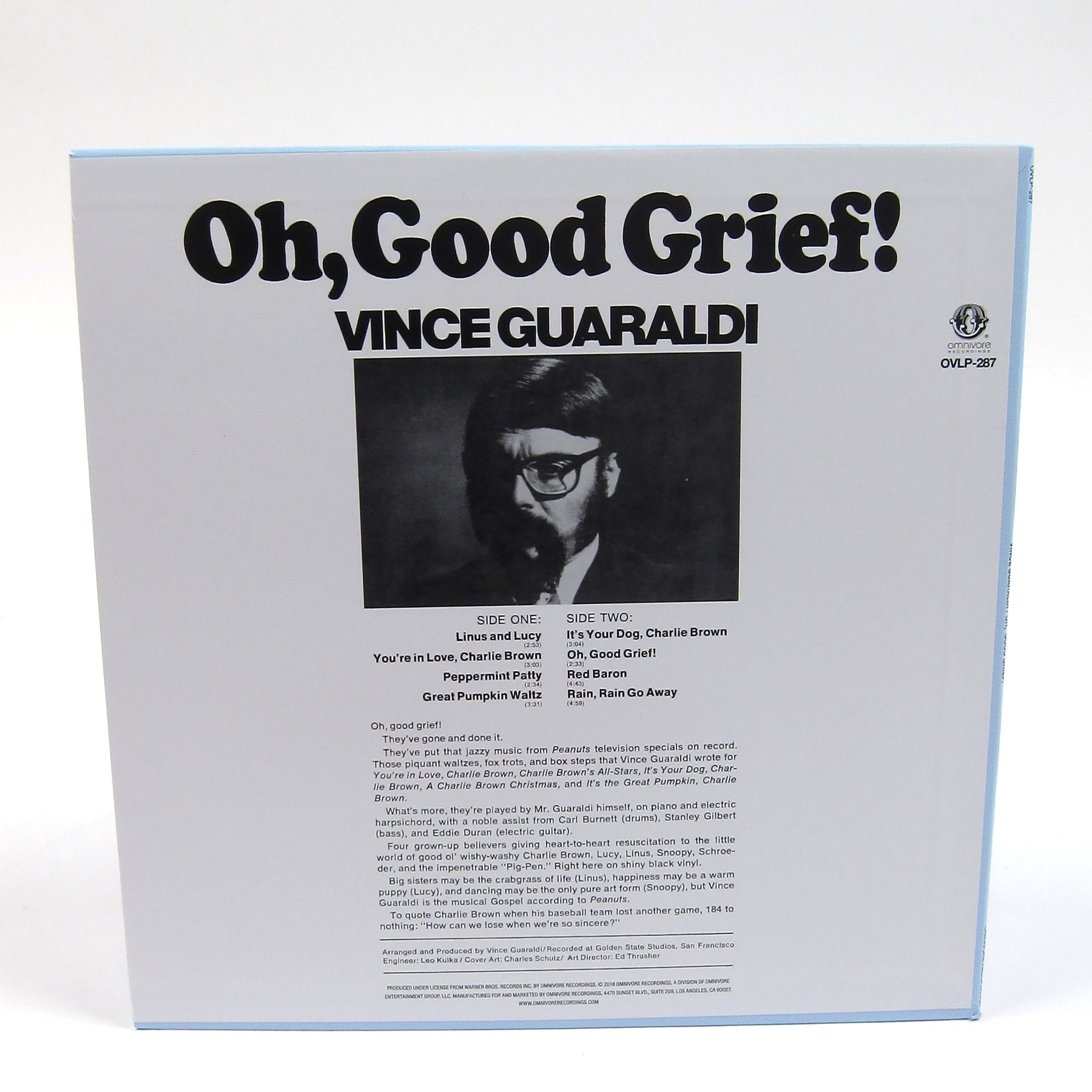 Vince Guaraldi Oh Good Grief Peanuts Colored Vinyl