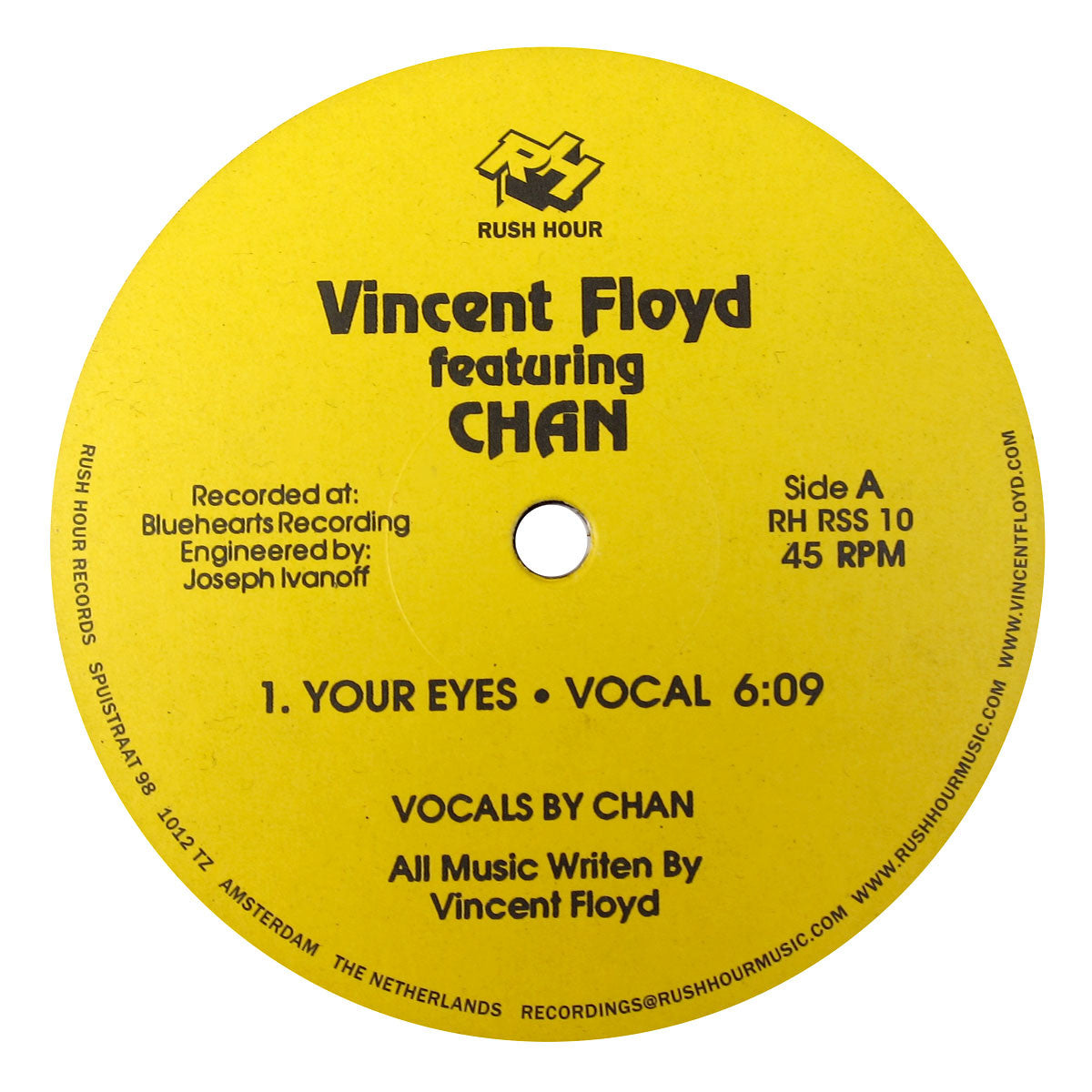 Vincent Floyd: Your Eyes ft. Chan Vinyl 12""
