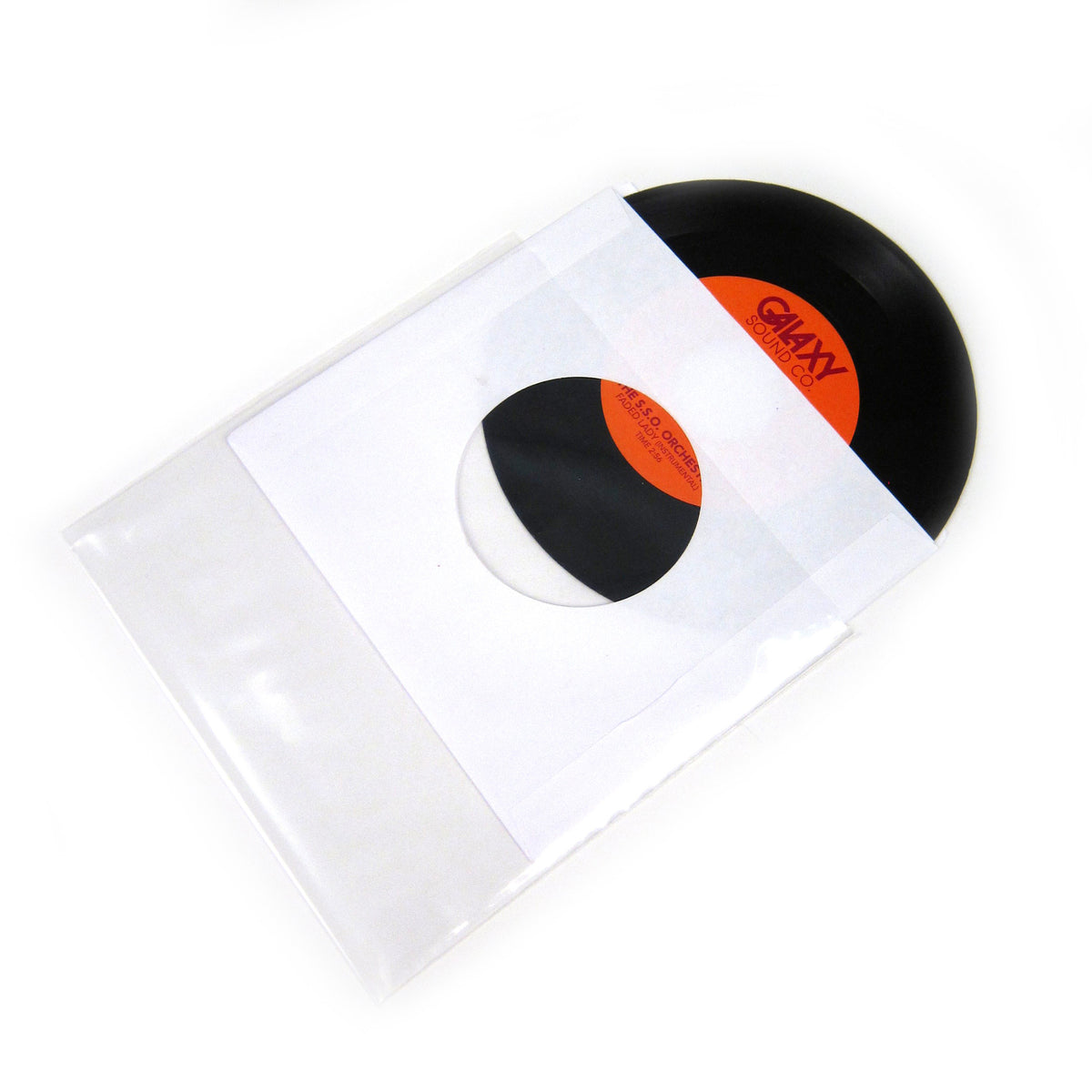 "Vinyl Styl: 7"" Poly Record Sleeve (50 Units)"