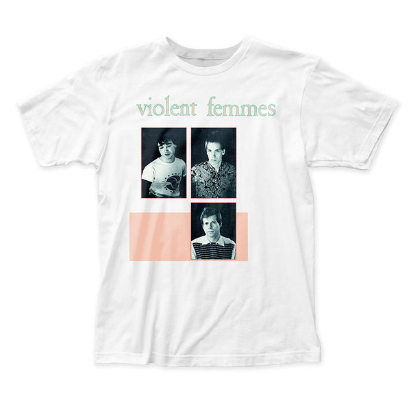 Violent Femmes: Group Shirt - White