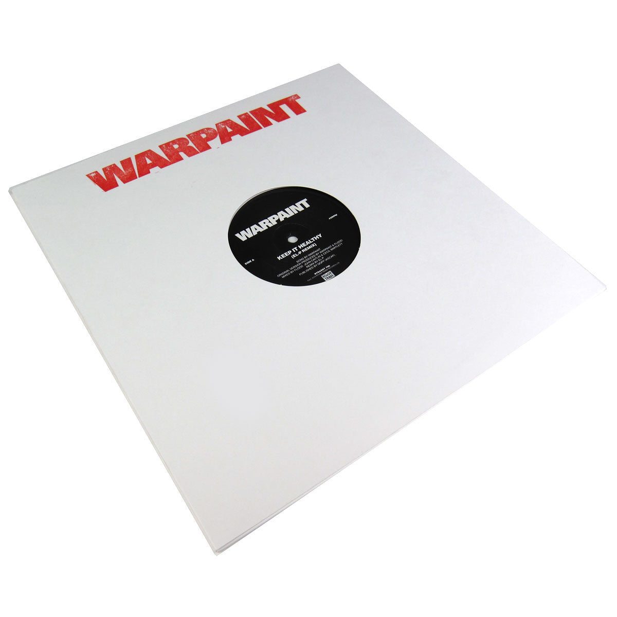 Warpaint: Keep It Healthy / Disco//Very (El-P, Richard Norris) Vinyl 12""