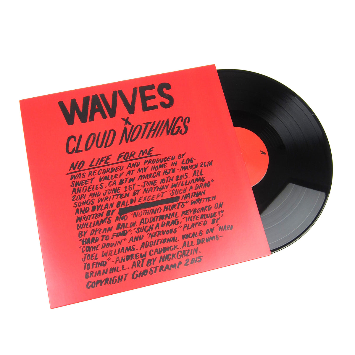 Wavves / Cloud Nothings: No Life For Me Vinyl LP