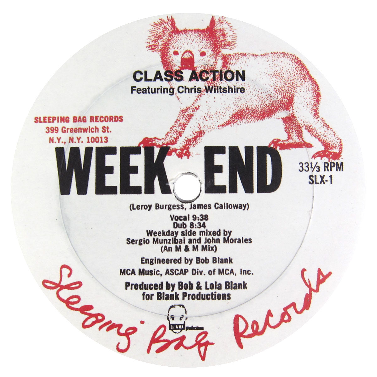 Class Action: Weekend (Larry Levan Mix) Vinyl 12""