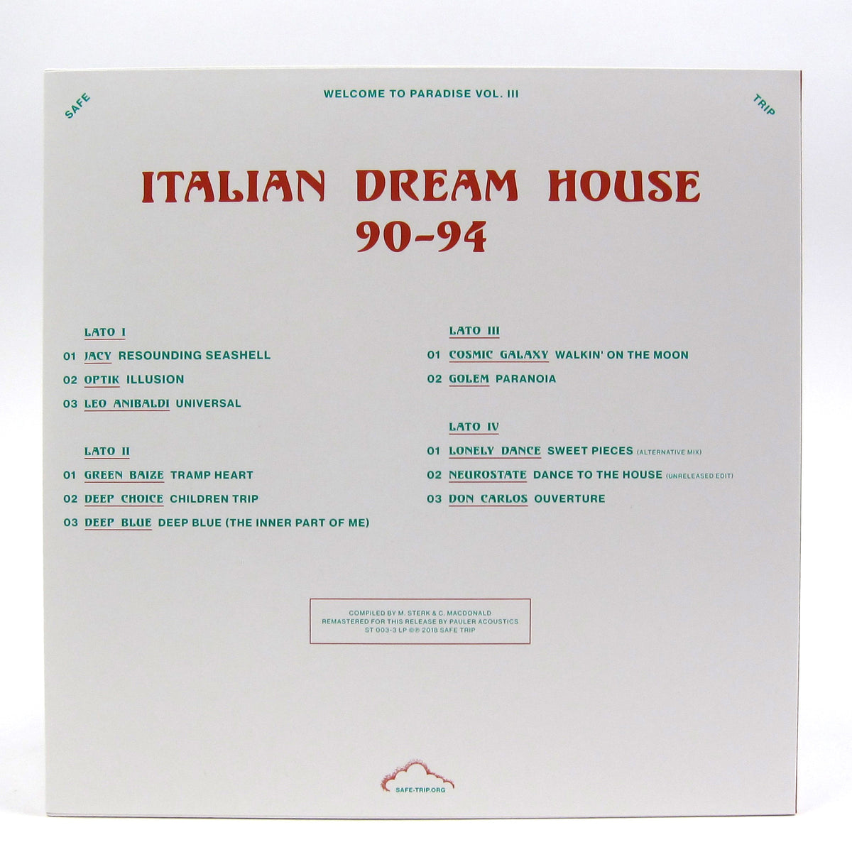 Safe Trip: Welcome To Paradise Vol.III - Italian Dream House 90-94 Vinyl 2LP