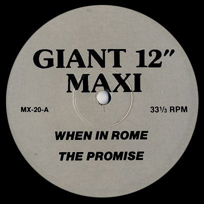 When In Rome: The Promise 12""