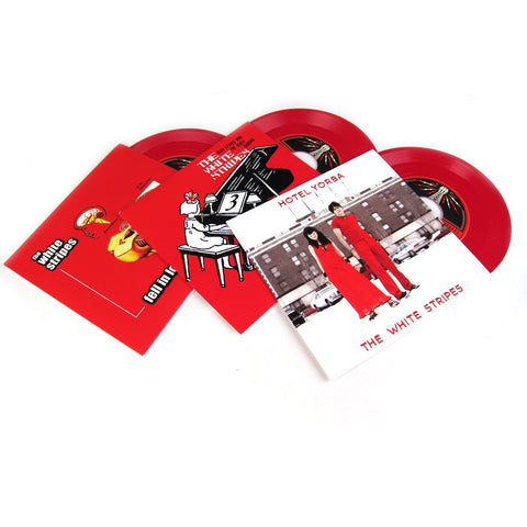 "The White Stripes: Colored Vinyl 7"" Pack (Fell In Love With A Girl, Hotel Yorba, Dead Leaves And Dirty Ground)"