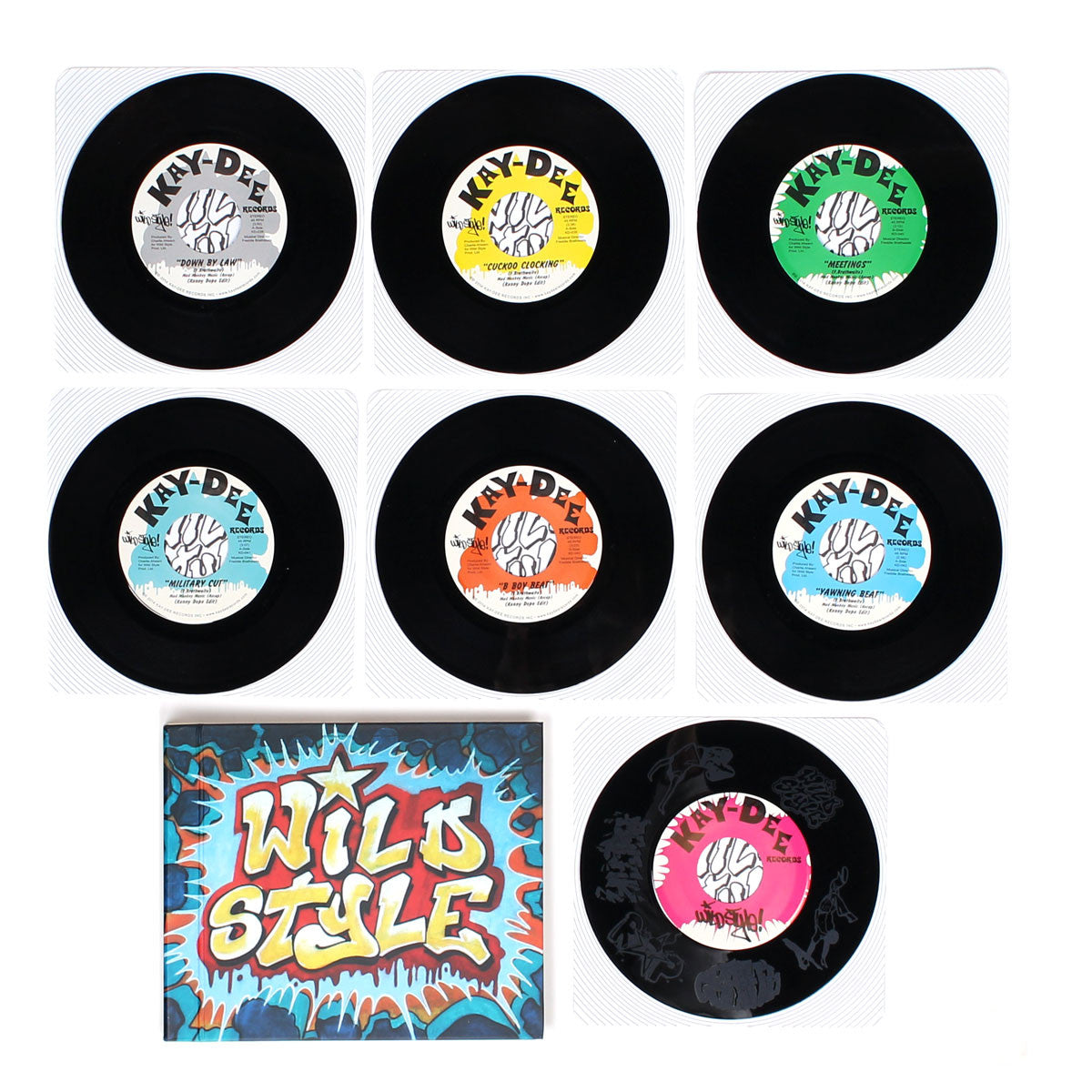 "Kenny Dope: Wild Style Breakbeats 7x7"" Vinyl + Book open page lay down 2"