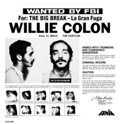 Willie Colon: Wanted By The FBI / The Big Break - La Gran Fuga (Colored Vinyl) Vinyl LP (Record Store Day)